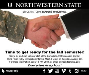 NSU Barksdale Newspaper Ad